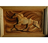 """Wood Carving """"RUNNING HORSE """""""